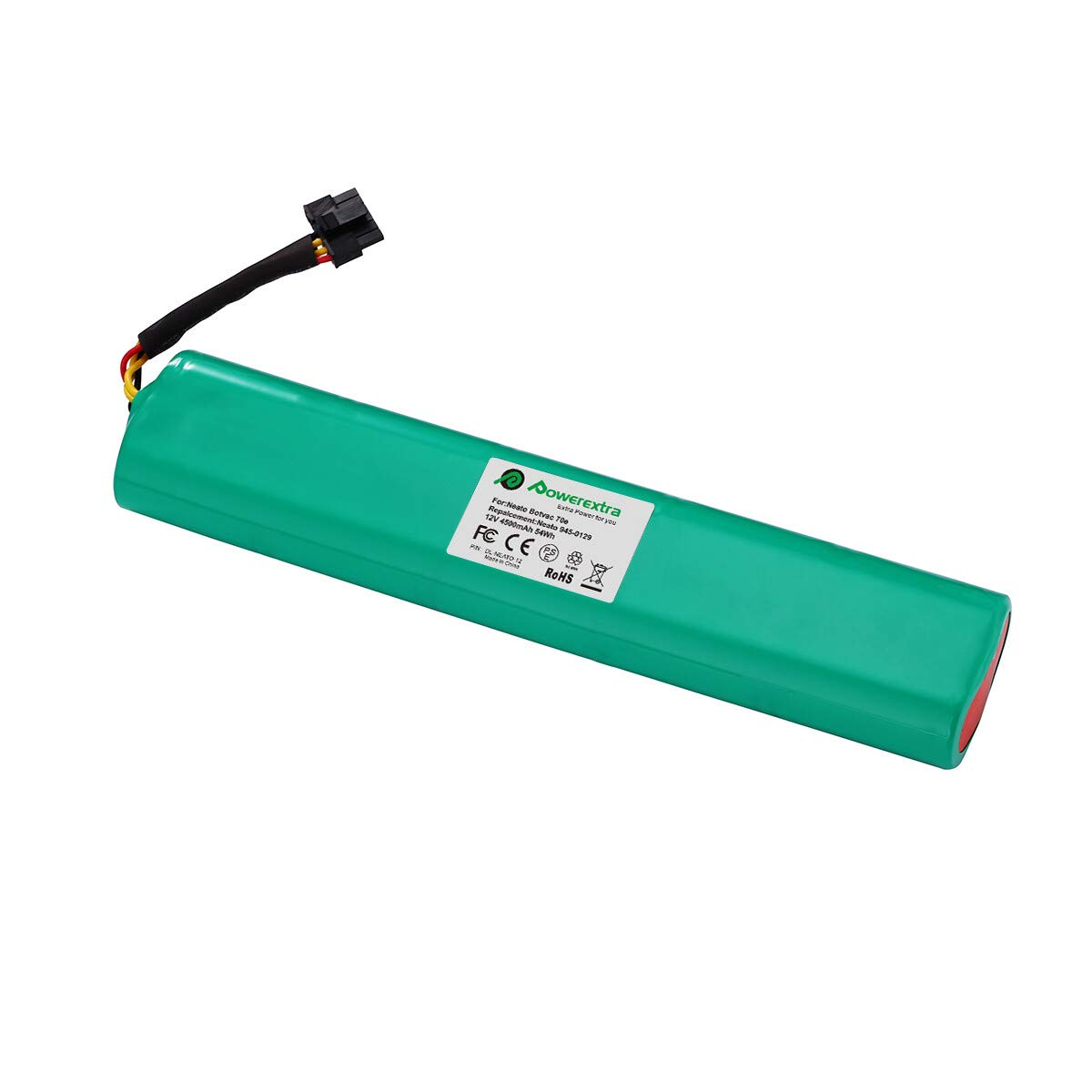 Upgraded Powerextra 12V 4500mAh Ni-Mh Replacement Battery Pack for Neato Botvac Series and Botvac D Series Neato Battery Neato Botvac Battery 70e, 75, 80, 85, Neato Robot Vacuum Cleaners by Powerextra