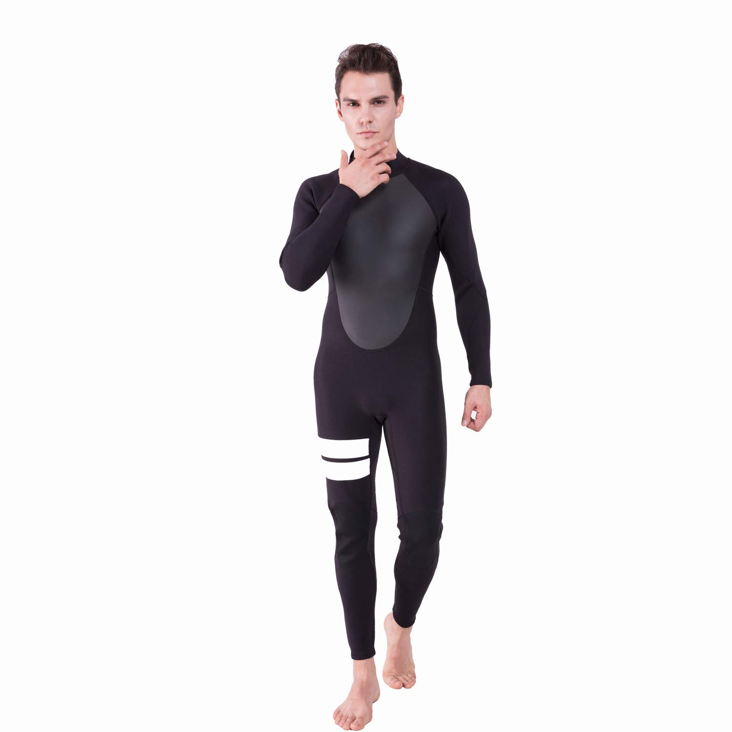 Realon Wetsuit Men Full 2mm Surfing Suit Diving Snorkeling Swimming Jumpsuit (2mm Black, Medium) by Realon (Image #7)