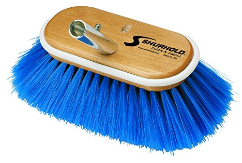 Shurhold 970 6'' Deck Brush with Extra Soft Blue Nylon Bristles by Shurhold
