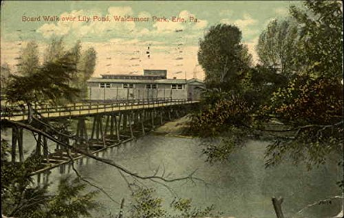 Board Walks over Lily Pond, Waldameer Park Erie, Pennsylvania Original Vintage Postcard (Park Waldameer)