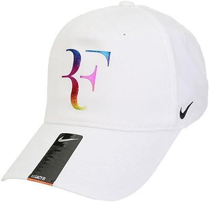 Ciudad milagro tarde  Nike Champion Legacy Roger Federer – Gorra de Tenis Deportivo de dri-fit  Ajustable (Sombrero (Blanco con Logotipo de Firma de neón & Negro de  Bordado Swoosh): Amazon.com.mx: Deportes y Aire Libre
