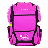 Latitude 64 DG Luxury E3 Backpack Disc Golf Bag (Pink/Black)