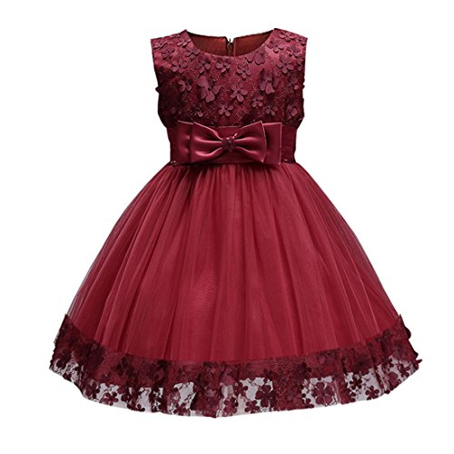 Toddler Girl Dress Size 18-24 Months Wine Red Dresses Clothes Party Pageant Special Occasions Fancy Formal Ball Gowns Fashion 2017 (Burgundy, (Fancy Dress Size 20)