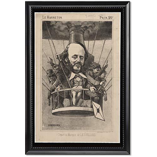 ClassicPix Framed Print 11x17: Depart Du Marquis De Le Guillois, Circa 1864 (Marquis Envelope)