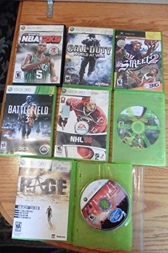 Lot of 8 XBOX 360 & XBOX games Call of Duty Rage Battlefield 3 American Idol 2 +