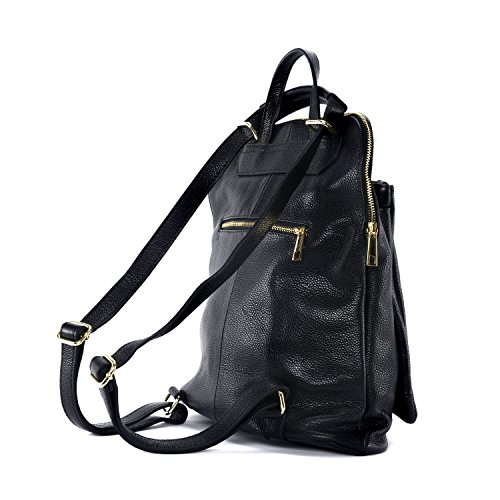 dos sac Panda Sac à en à femme main cuir amp;Cie grainé Noir BqwgqYU