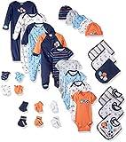 Gerber Baby Boys' 30-Piece Essentials Gift Set, Little Athlete, Newborn