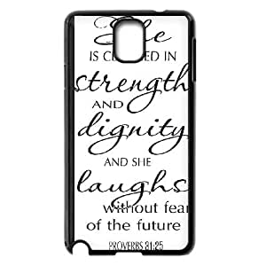Samsung Galaxy Note 3 Cell Phone Case Black Strength And Dignity Phone Case Covers Fashion Plastic CZOIEQWMXN21664