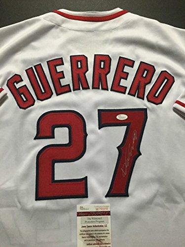 Guerrero Baseball Signed - Autographed/Signed Vladimir Vlad Guerrero Los Angeles LA White Baseball Jersey JSA COA