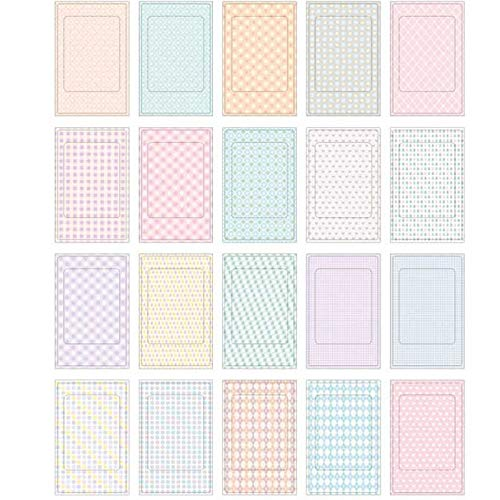Decorative Paper Plates Colorful 20 Sheets Craft Paper Scrapbooking Gift Photo Decoration Stickers Polaroid Masking Craft Tape Paper Washi