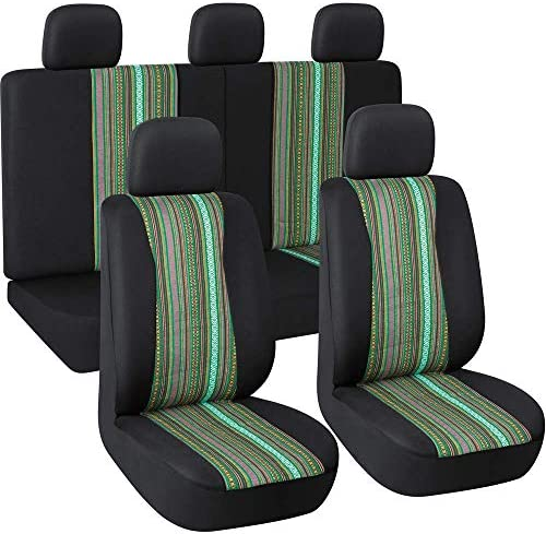 Buybai Cactus Saddle Blanket Car Seat Covers Universal Fit for Vehicle Sedan,Car Interior Protector Set of 2