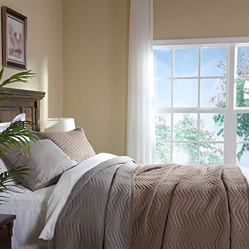 Elegant Life Modern Modal Cotton Jersey Chevron Stitched Bedding Quilt, Oversized King 106
