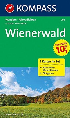 Wienerwald 1 : 25 000: Rad-Wanderkarten-Set mit Naturführer Wiesenblumen. GPS-genau