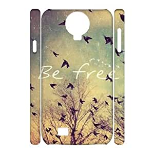 Be Free Unique Design 3D Cover Case for SamSung Galaxy S4 I9500,custom cover case ygtg581308