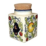 CERAMICHE D'ARTE PARRINI- Italian Ceramic Cookies Jar Hand Painted Made in ITALY Tuscan Art Pottery