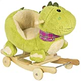 (USA Warehouse) Kids Dragon Animal Rocker W/ Wheels Children Ride On Dinosaur Toy Rocking Chair **ITEM#NO: 43E8E-UFE6 C2A8599