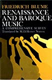 img - for Renaissance and Baroque Music: A Comprehensive Survey book / textbook / text book