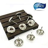 Upholstery tacks Furniture decorative nails/tacks 5/8(16mm)×1/2 BRIGHT NICKEL finish - 100 PCS