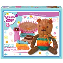 Children's Easy Knitting Brown Teddy Reusable Starter Kit