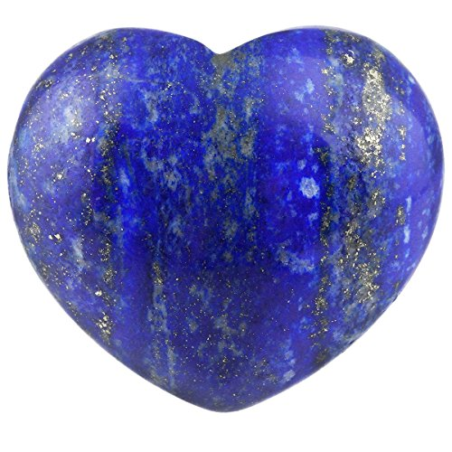 Heart Shape Stone - rockcloud Healing Crystal Lapis Lazuli Heart Love Carved Palm Worry Stone Chakra Reiki Balancing