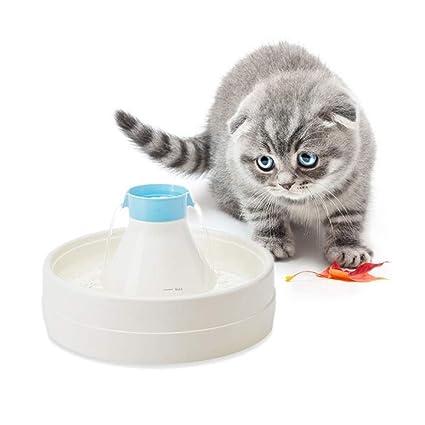PETCUTE Fuente de Agua para Perros Dispensador de Agua para Mascotas automático Fuente de Agua para
