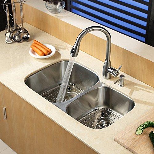 Kraus KBU24 32 inch Undermount 60/40 Double Bowl 16 gauge Stainless Steel Kitchen Sink by Kraus (Image #11)