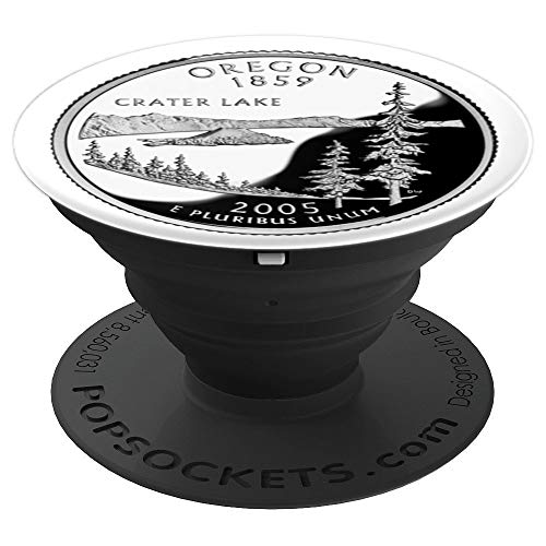 Oregon State Quarter Dollar, U.S. Mint Proof Reverse - PopSockets Grip and Stand for Phones and Tablets