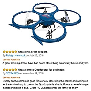 Force1 Udi U818A Drone with Camera Live Video Wifi Fpv and Return Home Altitude Hold VR Comp Compatible Quadcopter (Certified Refurbished) from Force1