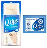 Q-tips Cotton Swabs, 750 ct + Travel Holder Case for a Purse