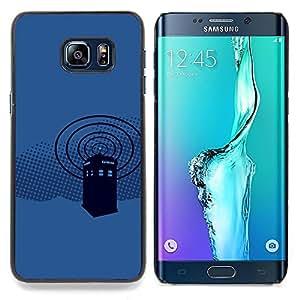 SKCASE Center / Funda Carcasa protectora - Policía Cabina Azul;;;;;;;; - Samsung Galaxy S6 Edge Plus / S6 Edge+ G928