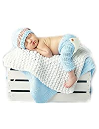 Newborn Baby Photography Props Boy Girl Photo Shoot Outfits Crochet Knitted Hat Pant