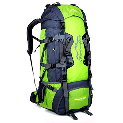 Großvolumige im Freien Rucksack Tasche Klettersystem mit Außenreit Rucksack Umhängetasche Reisetasche tragen Frucht grün
