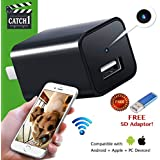 USB Charger Camera Home Security Hidden Spy Cam WiFi Motion Detection Surveillance HD 1080P Snap Smart Cam for Pets and Nanny Camera 32GB Memory NEW VERSION by Catch1