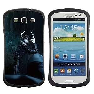 "Hypernova Slim Fit Dual Barniz Protector Caso Case Funda Para SAMSUNG Galaxy S3 III / i9300 / i747 [Moda Negro Bruja noche de Halloween""]"