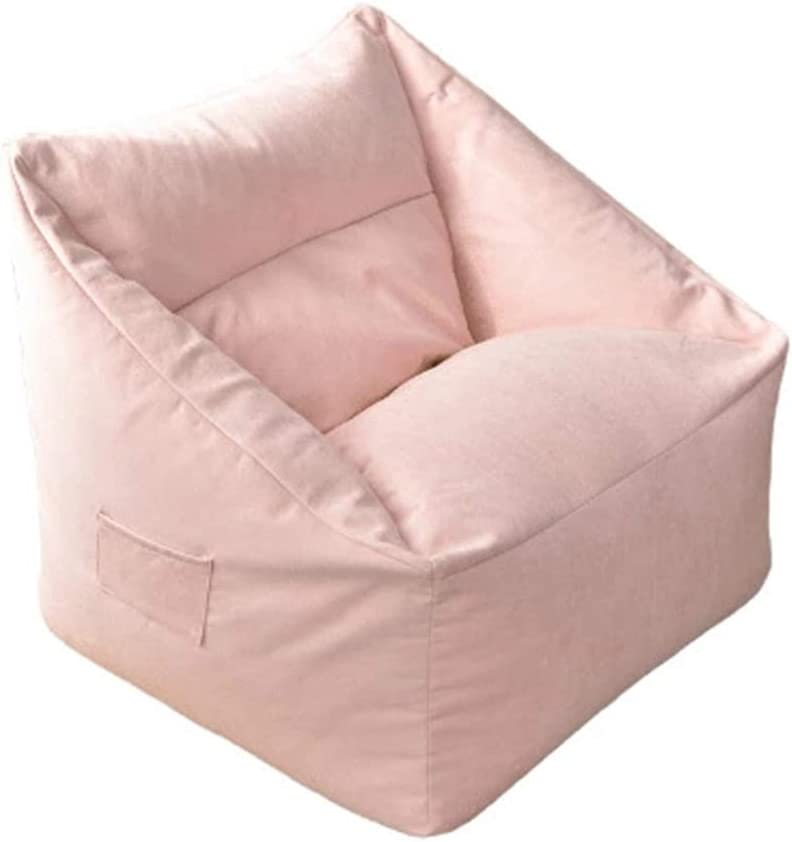FBKPHSS No Filling Bean Bag Chair Cover, Adults Large High Back Bean Bag Sofa Cover Recliner Gaming Storage Bag for Indoor Outdoor Bean Bag Chair 7565CM,Pink,29.5