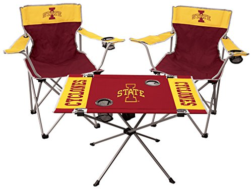 State Tailgate Table - Rawlings NCAA Iowa State Cyclones 3Piece Tailgate Kitrawlings Kit, Black, Adult