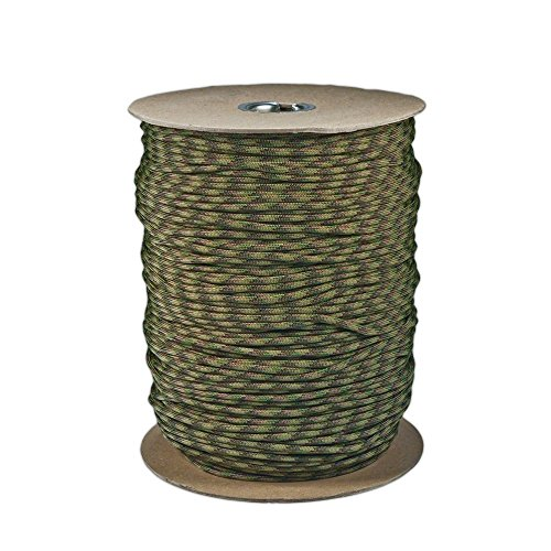 Gear Multi - SGT KNOTS Paracord 550 Type III 7 Strand - 100% Nylon Core and Shell 550 lb Tensile Strength Utility Parachute Cord for Crafting, Tie-Downs, Camping, Handle Wraps (4mm - 1000 ft - Multi Camo)
