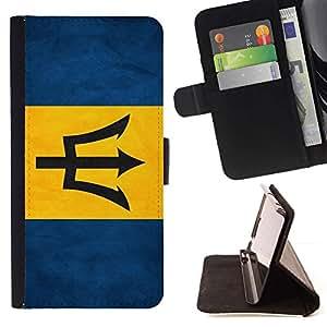 Momo Phone Case / Flip Funda de Cuero Case Cover - Nacional bandera de la nación País Barbados; - HTC DESIRE 816