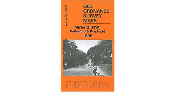 Old Ordnance Survey Maps Mirfield NW Batteford /& Roe Head  1905 Godfrey Edition