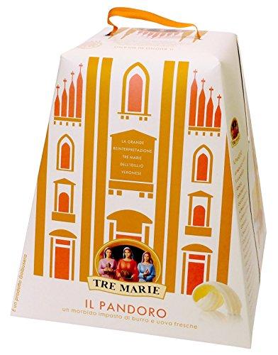 Tre Marie Il Pandoro Panettone 1 kg (2 lb 3.3 oz) Traditional Italian Christmas Cake (Christmas Italian Cake)