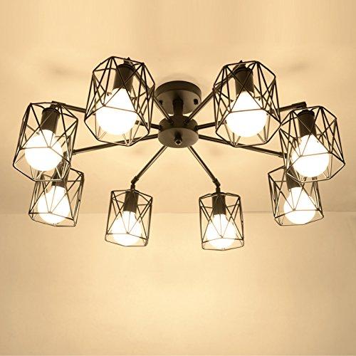 BLYC- Deckenventilator Lampe E27 moderne minimalistische Persönlichkeit koreanischen Stil Schlafzimmer Nordic kreative Wohnzimmer Deckenleuchte Studie Spinne , 8 head