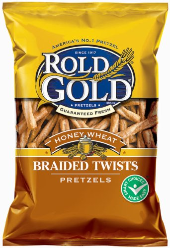 Rold Gold Honey Wheat Braided Pretzel Twists, 10 oz. Bag ()