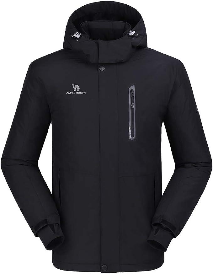 CAMEL CROWN Men/Women Waterproof Winter Ski Jacket Fleece Coat Snow Parka Heat