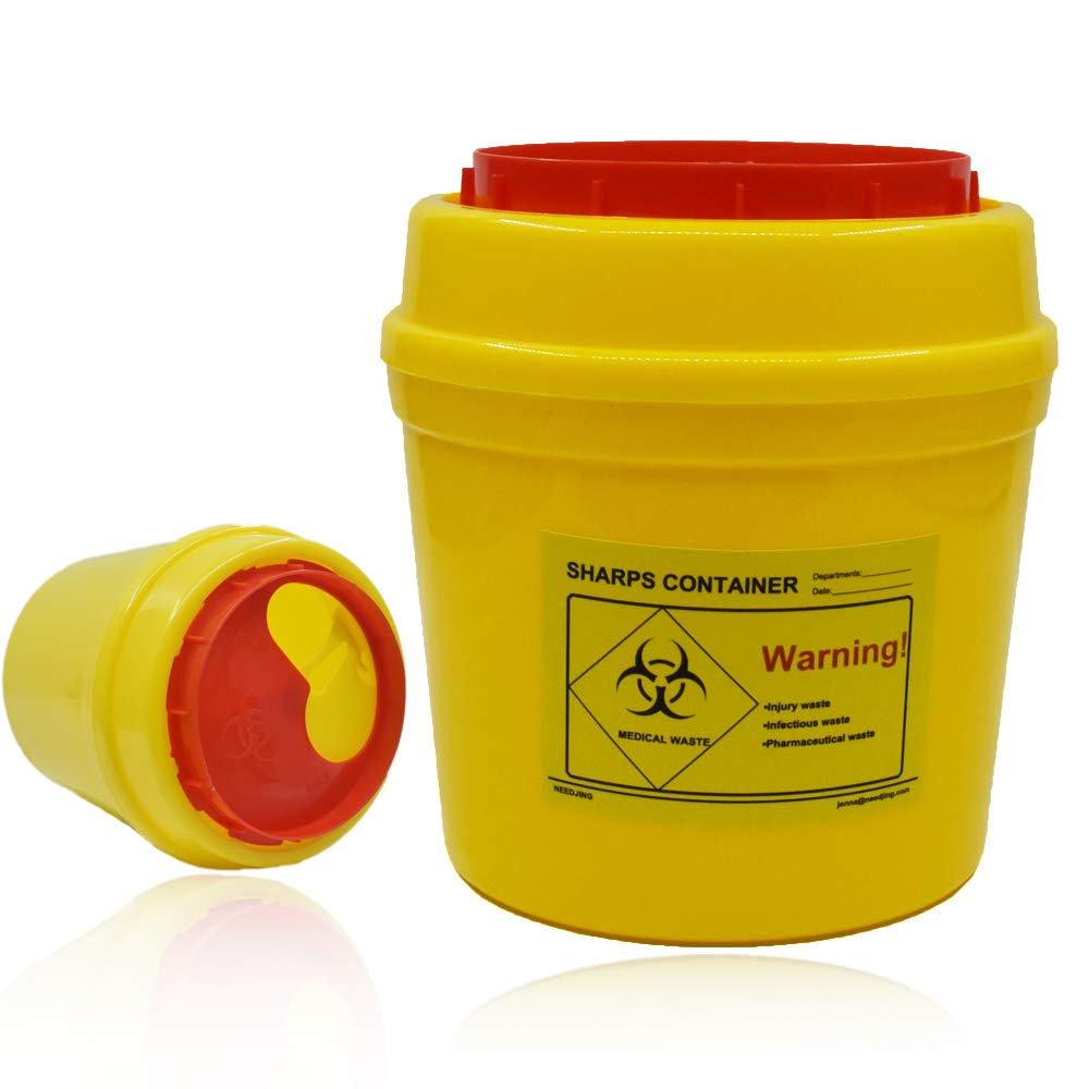 4-Pack Sharps Container(1 Quart),Sharps Needle Disposal
