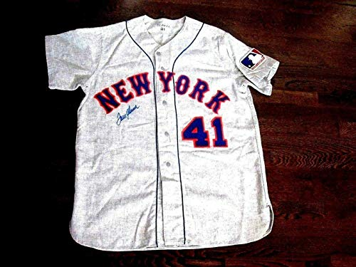 Tom Seaver 1969 New York Met's Signed Auto Quality Flannel Jersey Letter - JSA Certified - Autographed MLB Jerseys