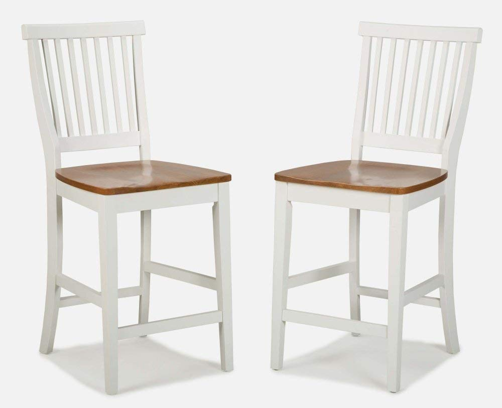 Woodbridge White Kitchen Island & 2 Stools by Home Styles by Home Styles (Image #4)