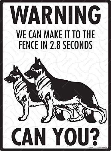 Warning Signs! German Shepherd Exterior We To The Fence Aluminum Beware Dog Sign 8 X 12 Can Of Make Property Mounting Shepherds Sheperd White Shephard It Graphics Gate And 12 Signa Owner Outdoor