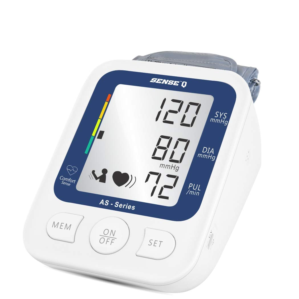 SenseQ by Accusure Fully Automatic Digital High Accuracy Blood Pressure Monitor / Gauge with WHO classified Indicator