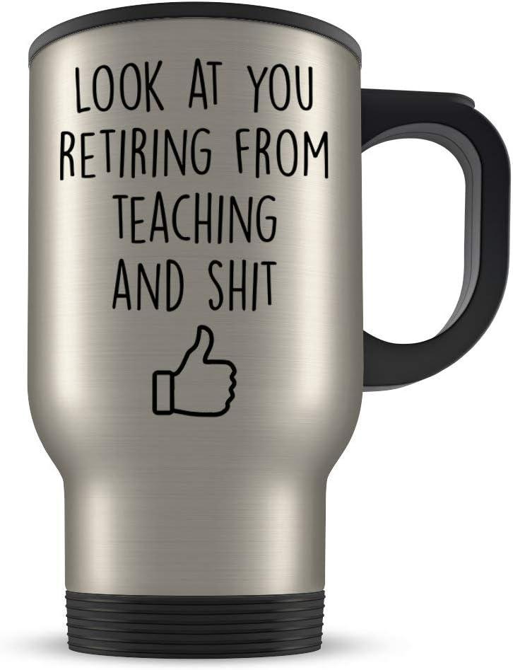 Taza de viaje para profesores de jubilación para hombres y mujeres, regalo para profesores jubilados, regalo para jubilados