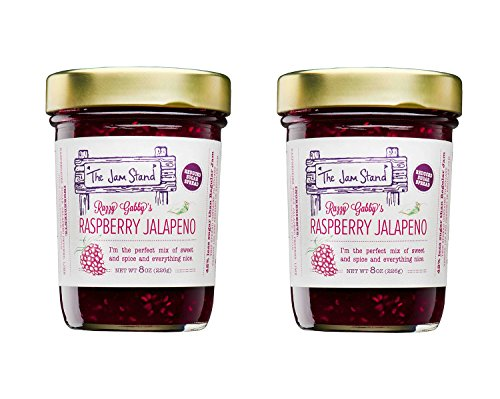 The Jam Stand, Raspberry Jalapeño Jam, 9.5 oz (Pack of 2)